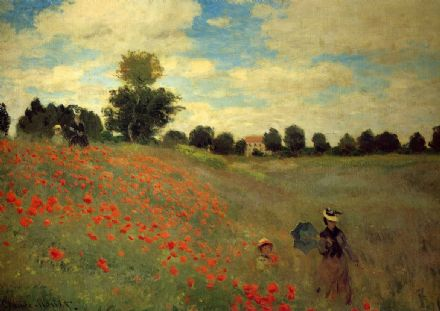 Monet, Claude: Wild Poppies, Near Argenteuil. Landscape Fine Art Print.  (00249)